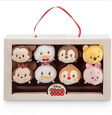 Authentic Disney Store Mickey Mouse Friends Valentine Candy Tsum Tsum Set 8 Gift