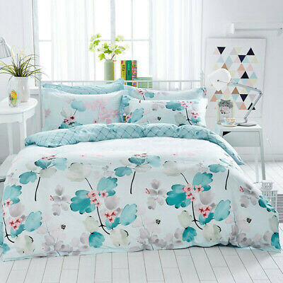 Single/Double/Queen/King Size Bed Quilt/Doona/Duvet Cover Set 100% Cotton-Rhythm