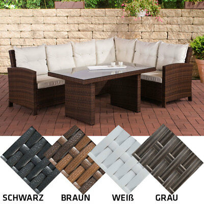 poly rattan sitzgruppe miranda essgruppe gartenm bel set 6 personen eur 775 00 picclick de. Black Bedroom Furniture Sets. Home Design Ideas
