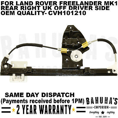 Land Rover Freelander 1998 2006 Rear Right Side Electric Window Regulator *new*