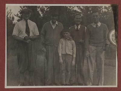 Sussex  Golfers Courier 'John Rowe' + boy + others  vintage  photograph  fd.35