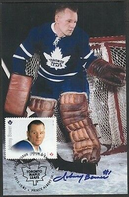 CANADA # 2869.4 - JOHNNY BOWER HOCKEY STAMP on MAXIMUM (POST) CARD, ONLY 8 MADE