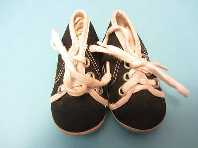 Childrens vintage trainers babies 50's 60's black sports shoe