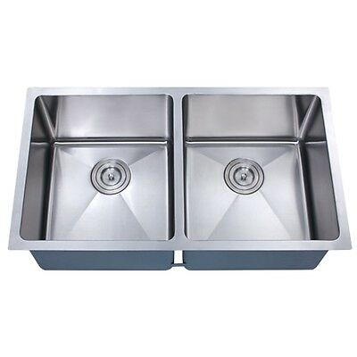Z202 30 X 16 Double Bowl Stainless Steel Hand Made