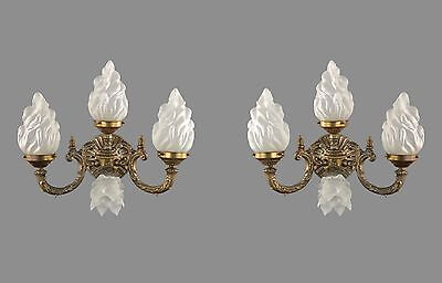 LARGE French Empire Styled Sconces c1930 Vintage Antique Restore Wall Lights