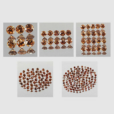 1.5mm Lot 6,10,20,50,100pcs Round Cut Calibrated Size Natural Brown ZIRCON