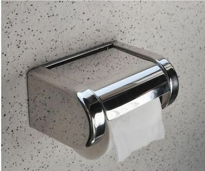 Wall Mounted Bathroom Stainless Steel Toilet Paper Holder Roll Tissue Box