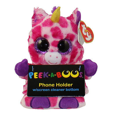 TY Beanie Boos - Peek-A-Boos - UNI the Unicorn (4 inch - Phone Holder) - MWMTs