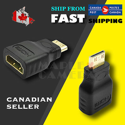 NEW For HDTV Mini HDMI(Type C) Male to HDMI(Type A) Female Adapter Connector