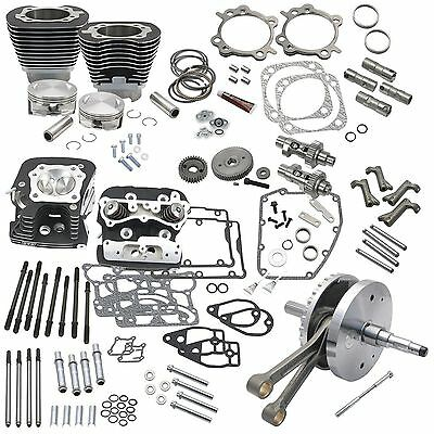 S&S Cycle 124in. Hot Set Up Kits with Heads 900-0569