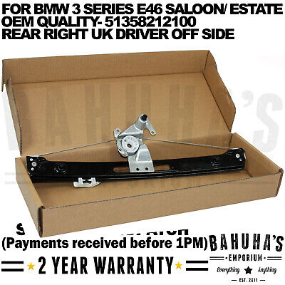 Bmw 3 Series E46 Complete Electric Window Regulator Rear Right Drivers 1998-2005