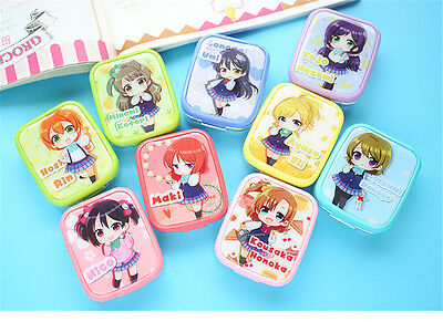 1pc Anime Love Live Contact Lenses Portable Cute Light Lens Case Cosplay Props