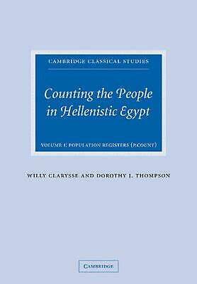 Counting the People in Hellenistic Egypt 2 Volume Paperback Set by Willy Claryss