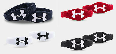 "**New For 2016** Under Armour 0.5"" Oversized Performance Wristband 2-Pack"