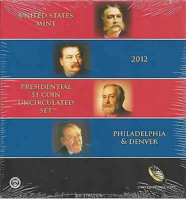 United States: Presidential 1$ Coin uncirculated Set 2012
