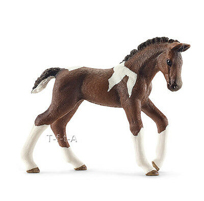 FREE SHIPPING | Schleich 13758 Pinto Trakehner Horse Foal - New in Package