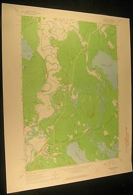 Fryeburg Maine Lovell Starks Mountain 1965 vintage USGS original Topo chart map