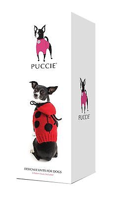 Designer Knits for Dogs - Ladybird /Ladybug Knit Kit for Small Dogs from Puccie
