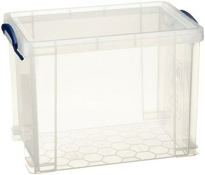 Really Useful A4 19L Suspension File Box - Clear