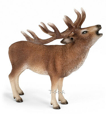 FREE SHIPPING | Schleich 14647 Red Deer Buck Wild Animal Toy - New in Package