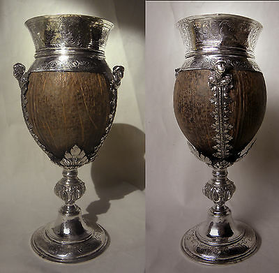 An Important Early 17Th Century Dutch Voc Silver Mounted Coconut Cup