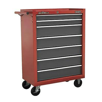 Sealey Locking Rollcab 7 Drawer Mechanics Tool Box/Chest,  Red/Grey - AP22507BB