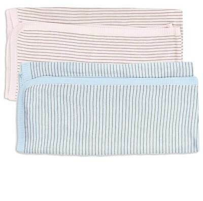 New Max & Tilly Bamboo Knit Stripe Swaddle Bunny Rug Blanket Baby Boy Girl