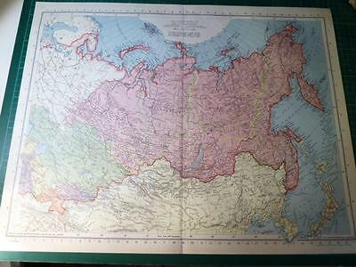 Map From Philip's Atlas 1945 - Northern Asia - 97-98/45