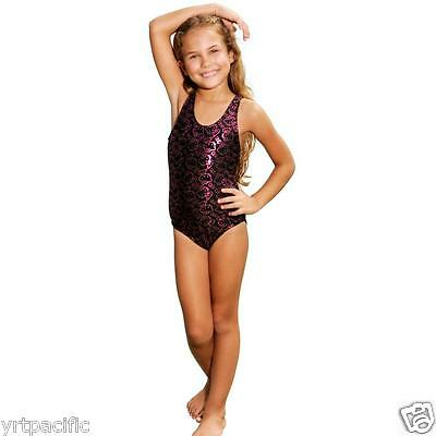 Hello Kitty Foil Face 1 Piece Swimwear Black Toddler Sizes Girls 6398