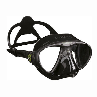 Aqualung Maschera Volume Ridotto Pesca Sub e Apnea Micromask Black 01IT