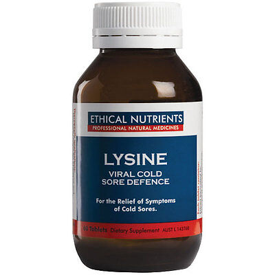 Ethical Nutrients Lysine – viral cold sore defence 30 tablets