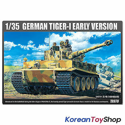 Academy 13239 1/35 Plastic Model Kit German TIGER-I Early Version Armor Tank