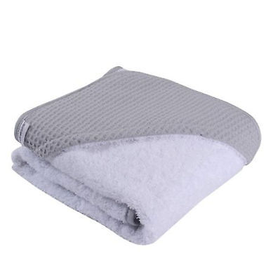 New Clair De Lune Super Soft Hooded Towel Grey Waffle Ideal Baby Gift Idea