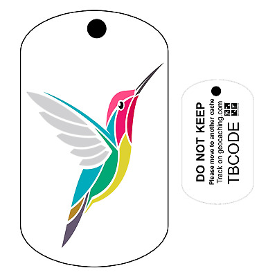 Harry the Hummingbird (Travel Bug) For Geocaching - Trackable Tag