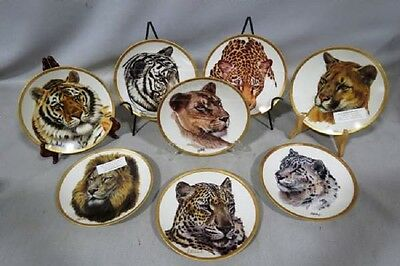 NEW 8 GREAT CATS OF THE WORLD PLATES BY Guy Coheleach W/ 7-COA & FOAM BOXES #2
