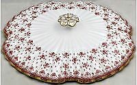 Spode Fleur De Lys-Red Lid For Round Vegetable