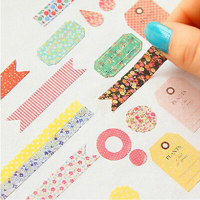 8pcs Paper Stickers Set Diary Planner Scrapbook Decor Romance Forest Story