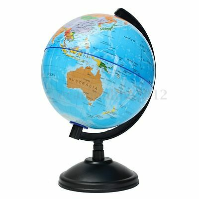 8.5-32cm Globe World Atlas Map & Swivel Stand Geography School Educational Gift