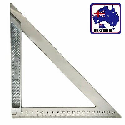 20cm Aluminium Stainless Steel Triangle Ruler Measure Scales Tool TSQUA2820