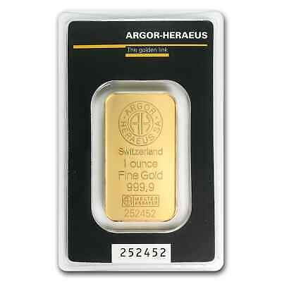 1 oz Gold Bar - Argor-Heraeus - SKU #45453