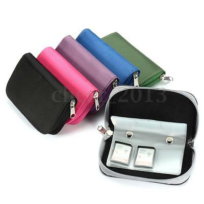 SDHC MMC CF Micro SD Memory Card Storage Carrying Pouch Case Holder Wallet Bag