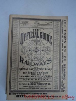 1954 Official Guide Of Railways Steam Navigation Lines of United States JUNE