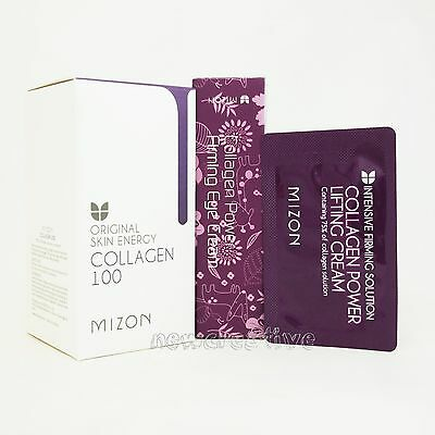 MIZON Collagen Lifting Cream Sample 10pcs+ EYE Cream 10ml+ Collagen Ampoule 30ml