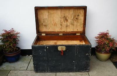Large Victorian seaman's or  sea chest  Gieve & Sons Portsmouth 1896 -1903