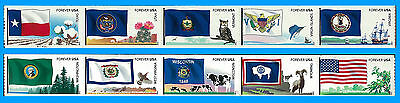 USA Stamp, 2012 US1230 Flags Nation Series 6, Flower, Owl, Fish, Ship, Bird, Cow