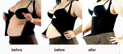 ladies underbust waist cincher body shaper corset control tops vest boned hook
