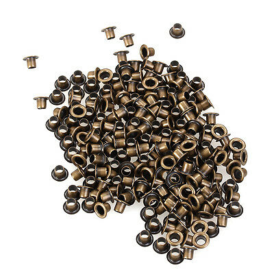 200pcs Eyelets Grommets Brass 3.5mm for Leather Shoes Belts Bags Clothes Canvas