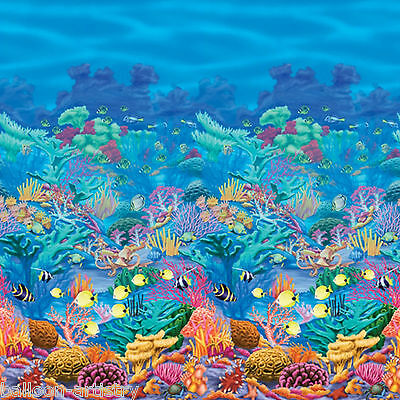 Tropical Underwater Paradise Scene Setter Room Roll CORAL REEF Party Decoration