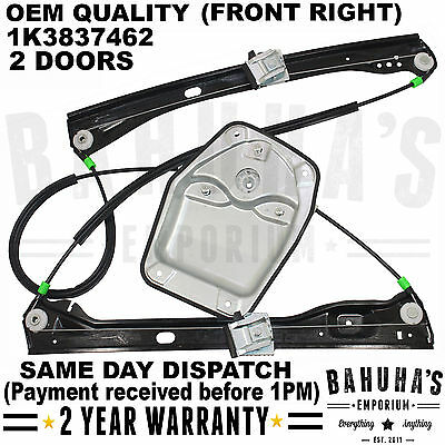 All Vw Golf Mk5 2003-2009 Front Right Driver Electric Window Regulator 2/3 Doors
