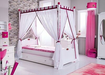 himmelbett anastasia rosa traumzimmer prinzessin kinderbett 90x200 cm neu eur 379 00 picclick de. Black Bedroom Furniture Sets. Home Design Ideas